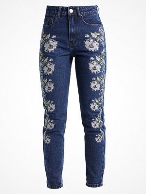 Lost Ink MOM WITH ALL OVER Jeans slim fit dark denim