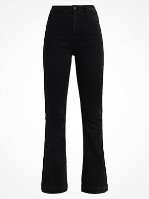 Missguided HIGH RISE SPLIT HEM Flared jeans black