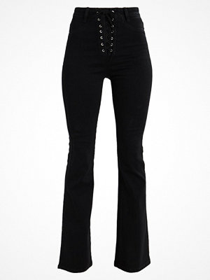 Missguided Flared jeans black