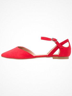 Anna Field Ballerinas med remmar red
