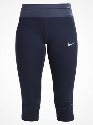 Nike Performance POWER ESSENTIAL DRIFIT Träningsshorts 3/4längd obsidian/thunder blue/reflective silver