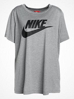 Nike Sportswear ESSENTIAL Tshirt med tryck carbon heather/black