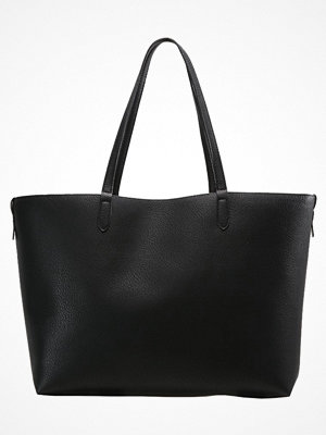 Even&Odd svart shopper Shoppingväska black red