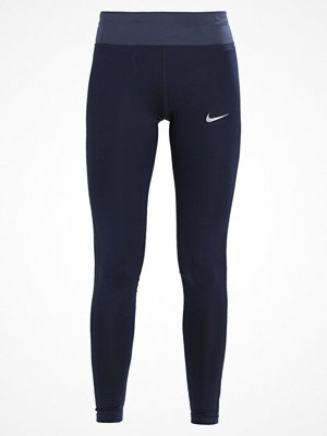Nike Performance POWER ESSENTIAL DRIFIT Tights obsidian/thunder blue/reflective silver