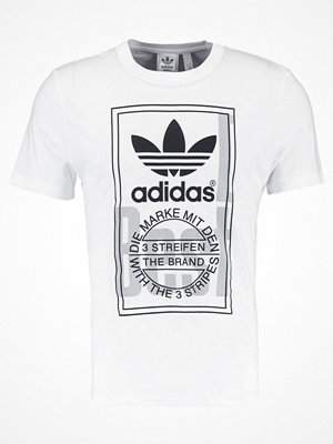 Adidas Originals TONGUE LABEL Tshirt med tryck white