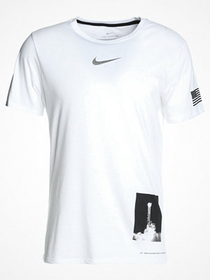 Nike Performance DRY TEE UNIT Tshirt med tryck white/black