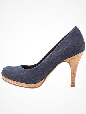 Tamaris Klassiska pumps navy jeans