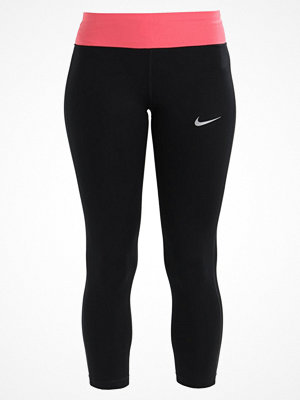 Nike Performance POWER ESSENTIAL CROP DRIFIT Tights black/sea coral/silver
