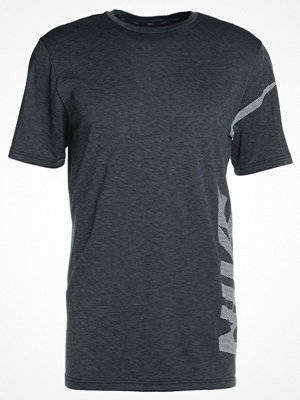 Nike Performance DRY  Tshirt med tryck black/anthracite/white