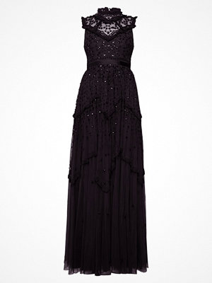 Needle & Thread DAISY SHIMMER GOWN Festklänning washed black