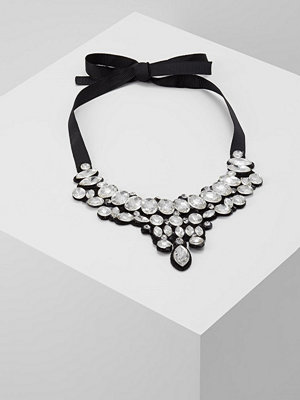 Topshop STONE FABRIC Halsband crystal/black