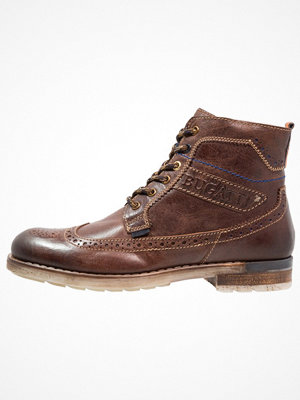 Boots & kängor - Bugatti Snörstövletter dark brown