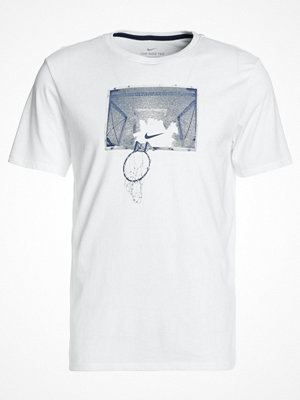 Nike Performance DRY TEE SHATTER Tshirt med tryck white/midnight navy