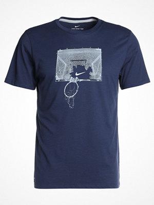 Sportkläder - Nike Performance DRY TEE SHATTER Tshirt med tryck midnight navy/wolf grey