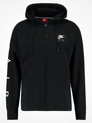 Street & luvtröjor - Nike Sportswear AIR FULL ZIP HOODIE Sweatshirt black/white