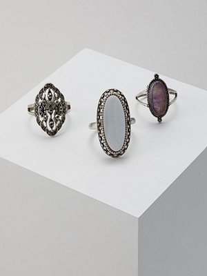 Topshop 3PACK Ringar purple/silvercoloured