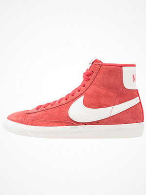 Nike Sportswear BLAZER MID VNTG SUEDE Höga sneakers speed red/sail/black