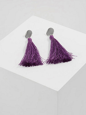 Topshop örhängen CIRCLE TASSELS Örhänge purple