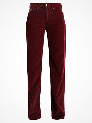 LOIS Jeans WIDE Tygbyxor burgundy omönstrade
