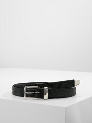 Only ONLLIZZARD EMBOSSED BELT Skärp black/shiny silver trim