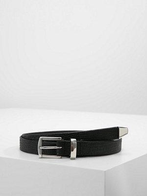 Bälten & skärp - Only ONLLIZZARD EMBOSSED BELT Skärp black/shiny silver trim