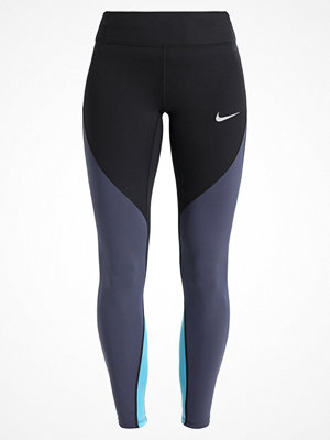 Nike Performance EPIC  Tights black/thunder blue/lt blue fury/reflective silv
