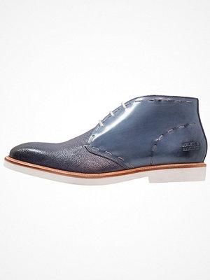 Boots & kängor - Melvin & Hamilton FELIX Snörstövletter moroccan blue/white