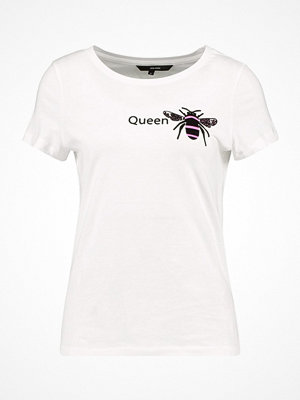 Vero Moda VMQUEENBEE Tshirt med tryck snow white