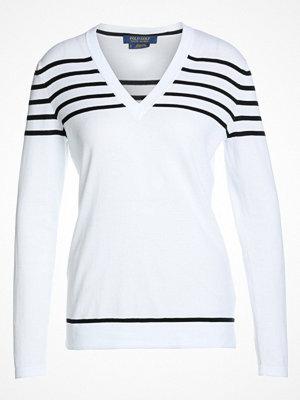 Polo Ralph Lauren Golf STRIPE Stickad tröja pure white