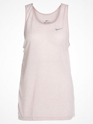 Nike Performance TANK ASYMMETRIC Funktionströja particle rose/heather/particle rose