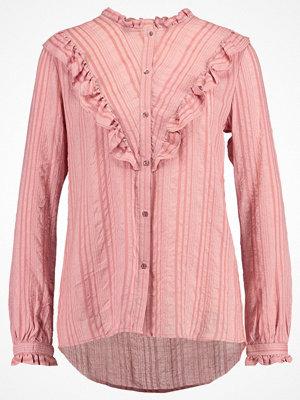 Saint Tropez STRIPED SHIRT W. RUFFLES Skjorta pink