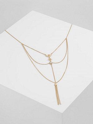 Topshop LONG LADDER Halsband goldcoloured