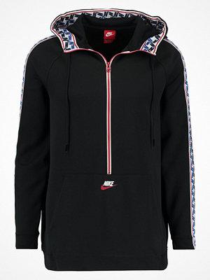Street & luvtröjor - Nike Sportswear TAPED HALF ZIP HOOD Luvtröja black/sail