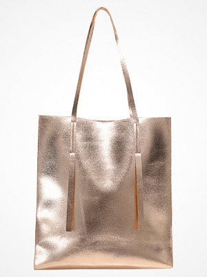 Even&Odd omönstrad shopper Shoppingväska rose gold