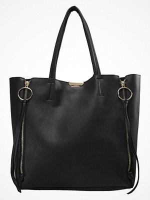 Topshop svart shopper O RING SIDE ZIP Shoppingväska black