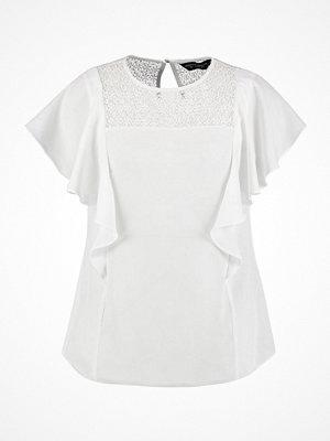 T-shirts - Dorothy Perkins RUFFLE INSERT Blus ivory
