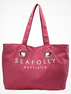 Strandplagg - Seafolly CARRIED AWAY EYELET TOTE Strandaccessoar  berry
