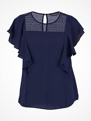 T-shirts - Dorothy Perkins RUFFLE INSERT Blus navy