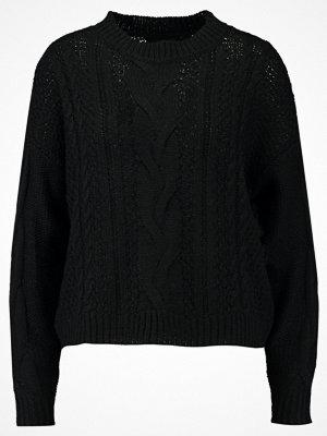 Vero Moda VMWALE CABLE ONECK Stickad tröja black