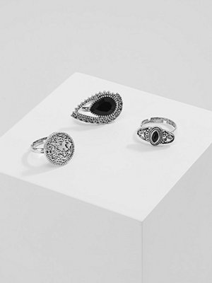 ERASE ETHNIC RING 3PACK Ringar silvercoloured