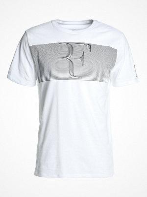 Sportkläder - Nike Performance ROGER FEDERER COURT TEE Tshirt med tryck white/black
