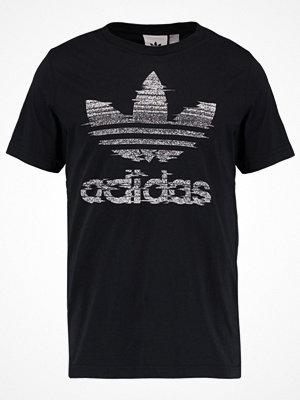 Adidas Originals TRACTION TREFOI Tshirt med tryck black