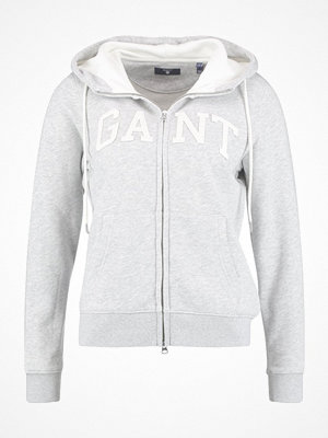 Gant FULL ZIP HOODIE Sweatshirt light grey melange