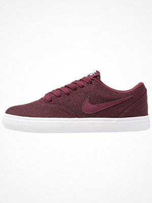 Nike Sb CHECK SOLAR Sneakers night maroon/blanc