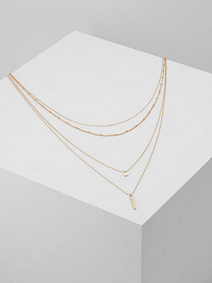 Only ONLROMA 4CHAIN NECKLACE  Halsband goldcoloured