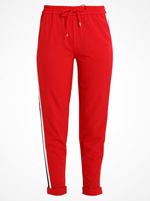 Only ONYROMA PANEL SOLID PANTS Tygbyxor red röda