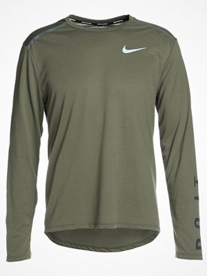 Nike Performance BREATHE TAILWIND  Funktionströja medium olive/sequoia/reflective silver