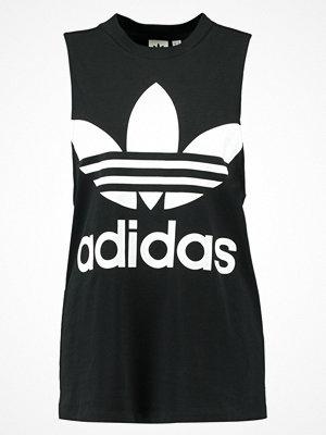 Linnen - Adidas Originals ADICOLOR TREFOIL TANK Linne black