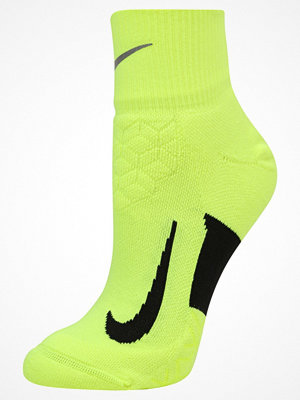 Strumpor - Nike Performance ELITE CUSHION QUARTER RUNNING SOCK Träningssockor volt/black