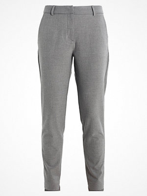 Selected Femme SFAMILA SILVER PANT Tygbyxor light grey melange grå